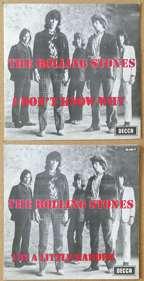 """The Rolling Stones - I Don't Know Why - Decca 105-26.455 Y Belgium 7"""" PS"""