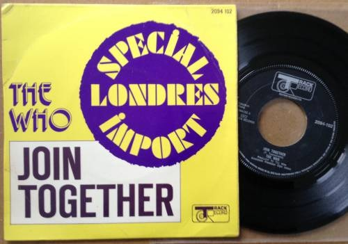 """The Who - Join Together - Track 2094 102 France 7"""" PS"""