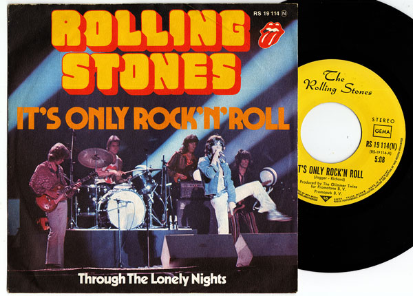 """The Rolling Stones - It's Only Rock'n'Roll - RSR RS 19114 Germany 7"""" PS"""