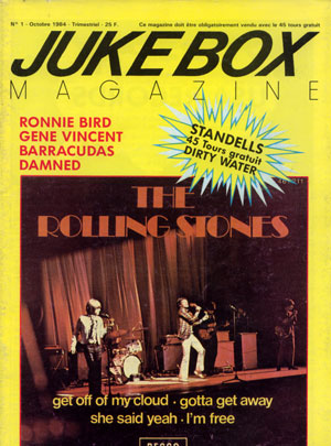 "The Rolling Stones / The Standells / Damned / Gene Vincent - Juke Box #1 - 10/1984 -   France 7"" & mag"