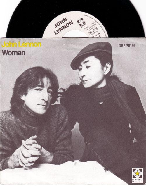 "John  Lennon (The Beatles) - Woman - Geffen GEF 79195 France 7"" PS"