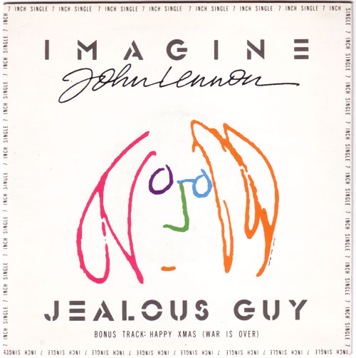 "John  Lennon (The Beatles) - Imagine - Parlophone R6199 - PS UK 7"" EP"