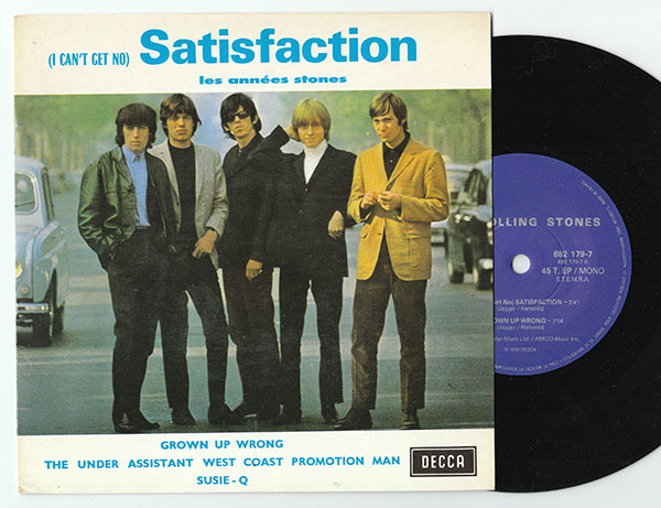 """The Rolling Stones - Satisfaction  - Decca 882 179 7 France 7"""" EP"""