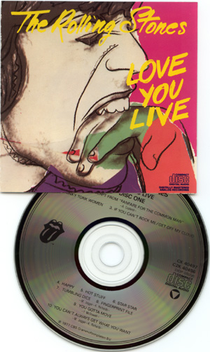 The Rolling Stones - Love You Live - CBS C2K 40496 USA CDx2