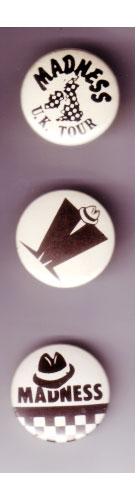 Madness - 1980's buttons -   UK buttons
