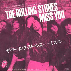 "The Rolling Stones - Miss You - Toshiba ESR 20455 Japan 7"" PS"