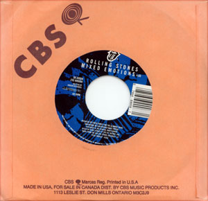 """The Rolling Stones - Mixed Emotions - CBS 38.69008 USA 7"""" CS"""