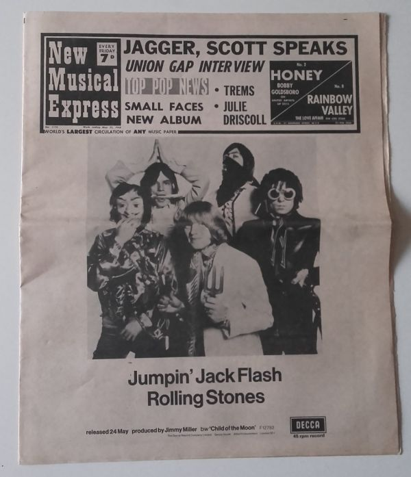 Rolling Stones, Small Faces, Scott Walker, Julie Driscoll, Union Gap - NME (1968) Rolling Stones, Small Faces, Scott Walker, Julie Driscoll, Union Gap -   UK mag
