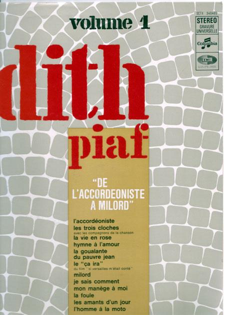 Edith Piaf - Volume 1 - Columbia SCTX 340.465 France LP