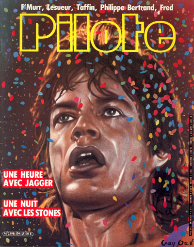 The Rolling Stones - Pilote (Famous Cartoon Mag) -   France mag