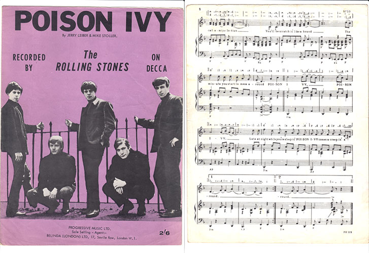 The Rolling Stones - Poison Ivy -   UK sheet music