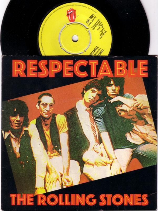 "The Rolling Stones - Respectable - EMI EMI 2861 UK 7"" PS"