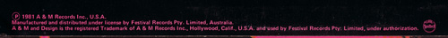 Rupert Hine - Immunity - A&M L 37572 Australia LP