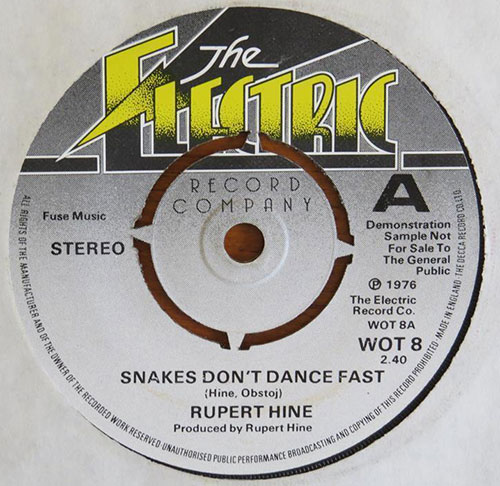 Rupert Hine - Snakes Don't Dance Fast - Electric WOT 8 UK 7""