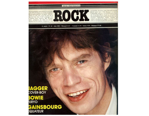 The Rolling Stones / David Bowie / Serge Gainsbourg - Rock -   France mag