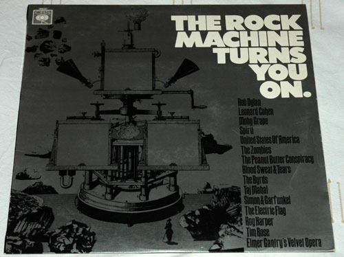 V/A incl. Bob Dylan, The Byrds, Simon and Garfunkel, Leonard Cohen, Moby Grape, Spirit, Taj Mahal, and Blood, Sweat and Tears - The Rock Machine Turns You On - CBS PR 22 UK LP