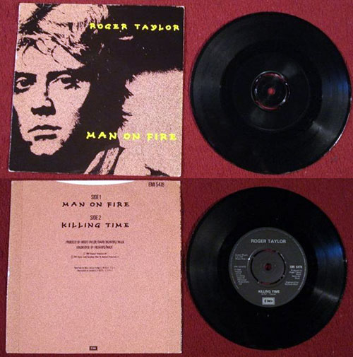 """Roger Taylor (Queen) - Man On Fire - EMI 5478 UK 7"""" PS"""