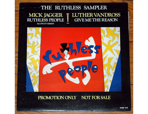 """Mick  Jagger (Rolling Stones) - Ruthless People - EPIC SAMP 1110 Holland 12"""" PS"""