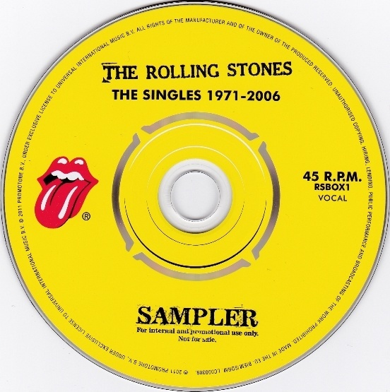 The Rolling Stones - The Singles 1971-2006 - Polydor RSBOX1 UK CD