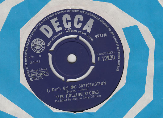 "The Rolling Stones - Satisfaction - Decca F.12220 UK 7"" CS"