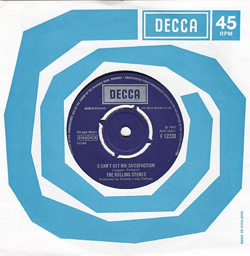 """The Rolling Stones - Satisfaction - Decca F 12220 UK 7"""" CS"""