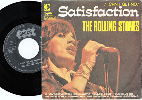 "The Rolling Stones - Satisfaction - Decca SDC 88890 Yugoslavia 7"" PS"
