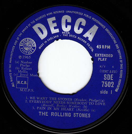 "The Rolling Stones - Got Live If You Want It! - Decca SDE 7502 UK 7"" EP"