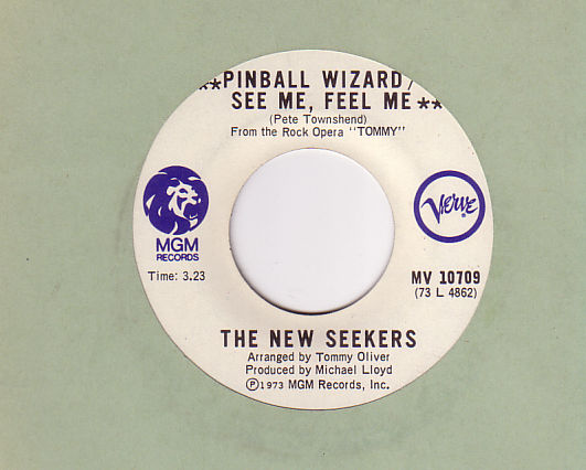 The New Seekers - Pinball Wizard - Verve MV 10709 Canada 7""