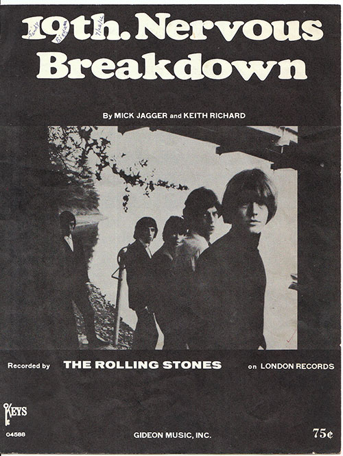 The Rolling Stones - 19th Nervous Breakdown - Gideon Music  USA sheet music
