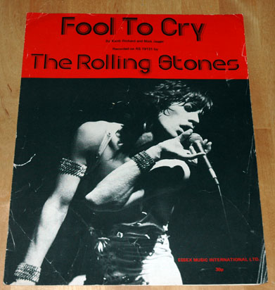 The Rolling Stones - Fool To Cry -   UK sheet music