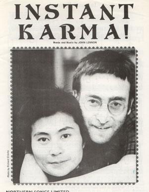 John  Lennon (The Beatles) - Instant Karma - Apple  France sheet music