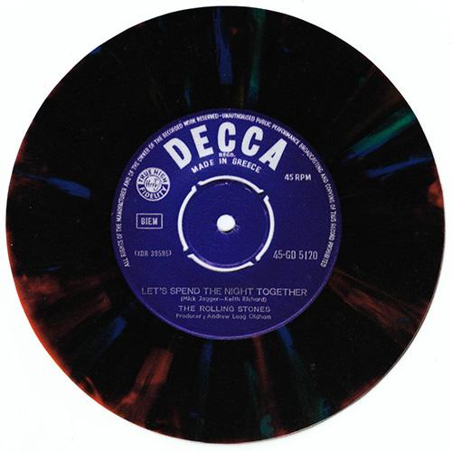 The Rolling Stones - sticker of Greek multicolor vinyl single -   Europe sticker