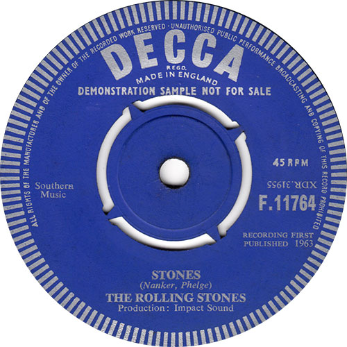 The Rolling Stones - sticker of 'Stones' UK demo 7 -   Europe sticker