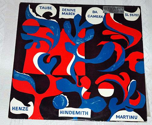 Martinu / Henze / Hindemith / Taube - same - Da Camera SL 93702 Germany LP