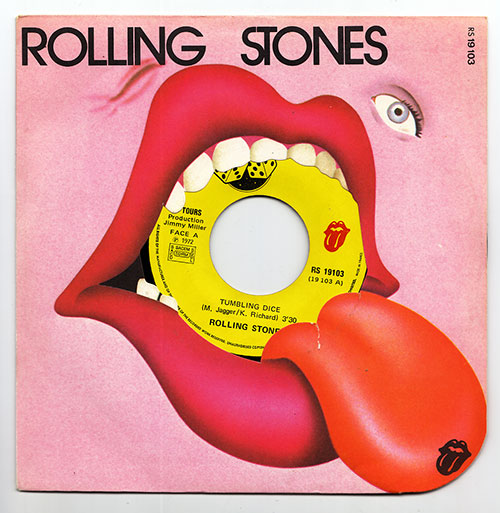 """The Rolling Stones - Tumbling Dice - RSR RS 19103 France 7"""" CS"""