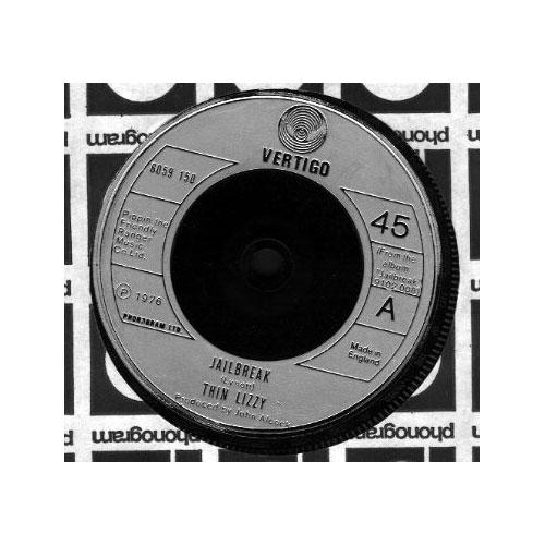 "Thin Lizzy - Jailbreak - Vertigo 6059150 UK 7"" CS"