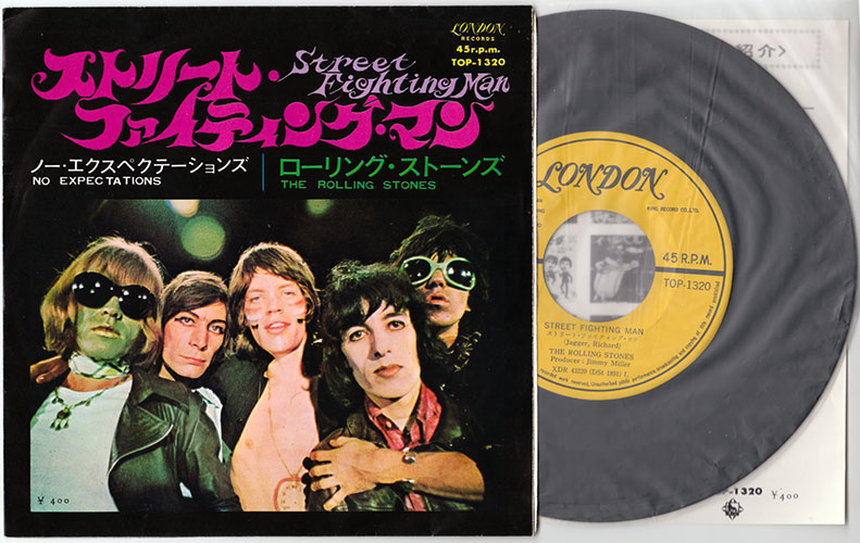 "The Rolling Stones - Street Fighting Man - London TOP 1320 Japan 7"" PS"