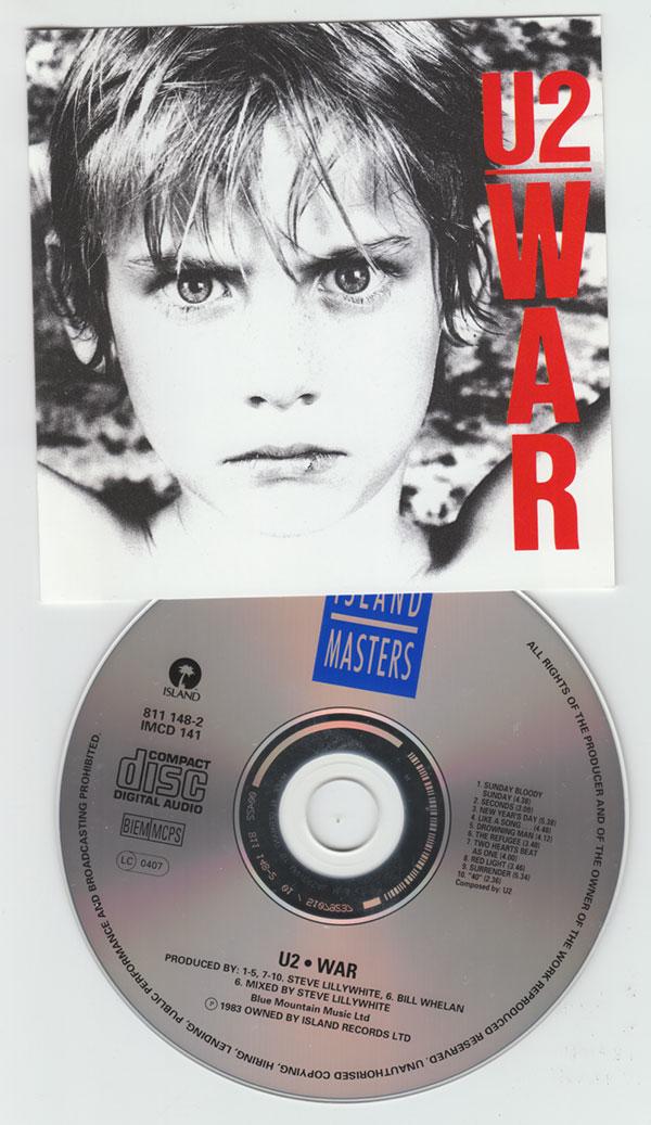 U2 - War - Island IMCD 141 - 811148-2 France CD