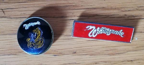 Whitesnake - 1980's badges -   UK badge