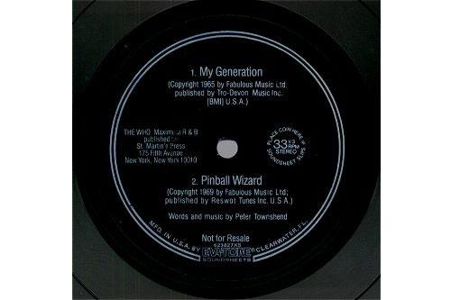 """The Who - My generation  - Eva-Tone  USA 7"""" flexi"""