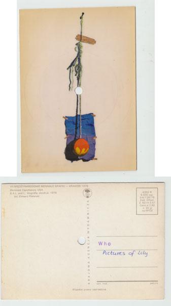 The Who - Pictures Of Lily - Krajowa Agencja Wydawnicza 4388R Poland postcard