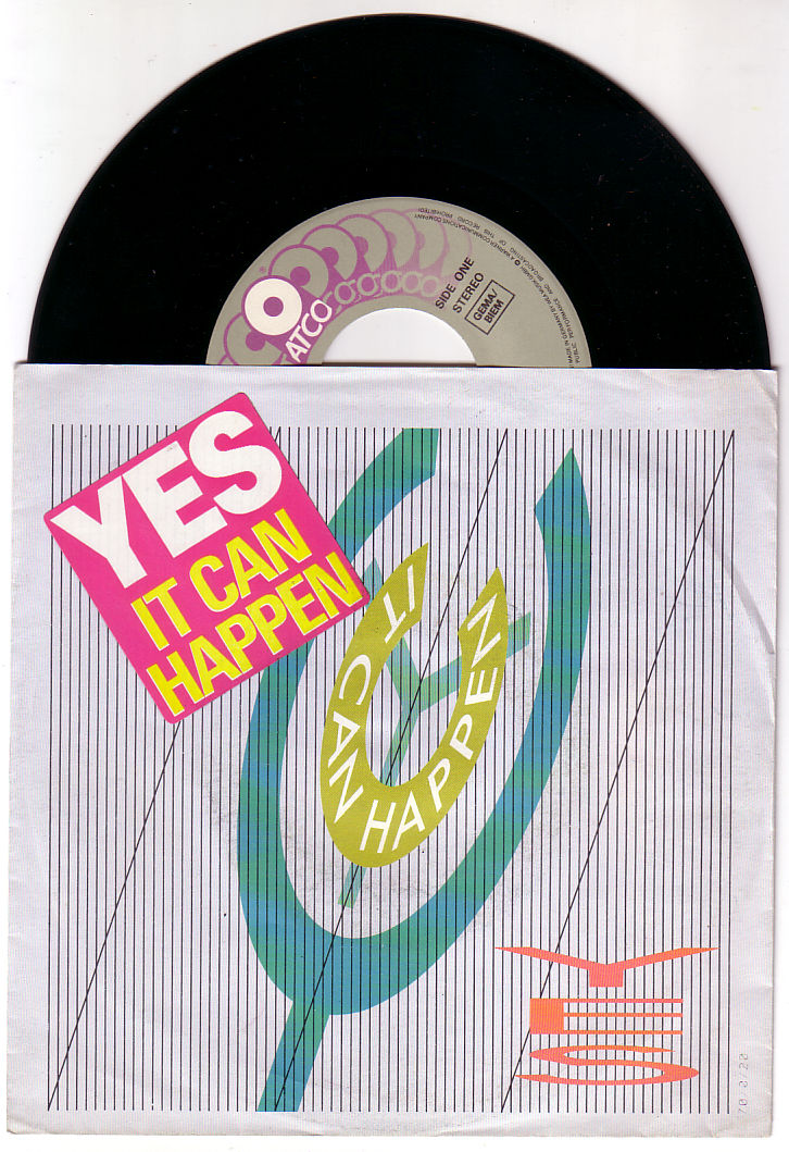 """Yes - It Can Happen - Atco 799745-7 Germany 7"""" PS"""
