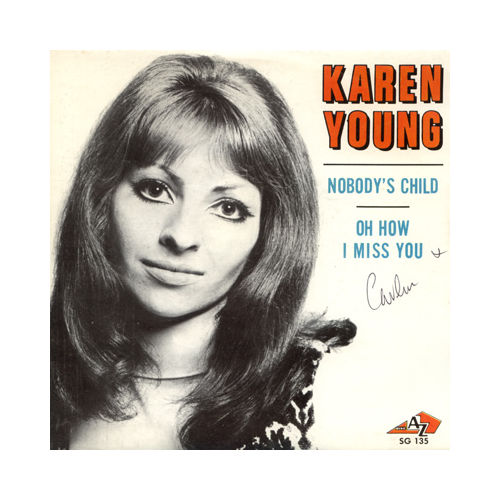 "Karen Young - Nobody's Child - AZ SG 135 France 7"" PS"