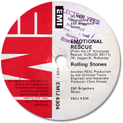 The Rolling Stones : Emotional Rescue - South Africa 1980