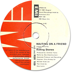 The Rolling Stones : Waiting On A Friend - South Africa 1981