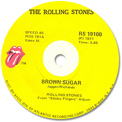 The Rolling Stones : Brown Sugar - South Africa 1971