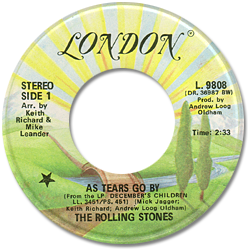 The Rolling Stones : As Tears Go By - Canada 1978