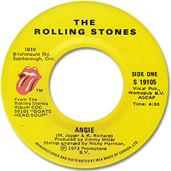 The Rolling Stones : Angie - Canada 1973