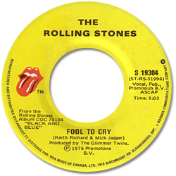 The Rolling Stones : Fool To Cry - Canada 1978