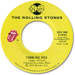 The Rolling Stones : Tumbling Dice - Canada 1972